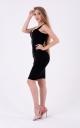 Стильное платье с молнией (черное)
