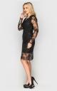 Очаровательное платье из гипюра (черное)