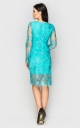Charming guipure dress (turquoise)