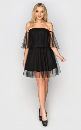 Evening dress in retro style (black)