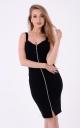 Stylish dress with zipper (black)