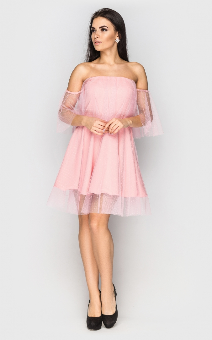 Evening dress in retro style (pink)
