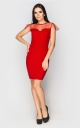 Evening dress mini (red)