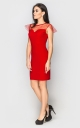 Вечірня сукня міні (червона)