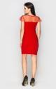Вечернее платье мини (красное)