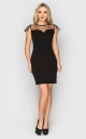 Evening mini dress (black)