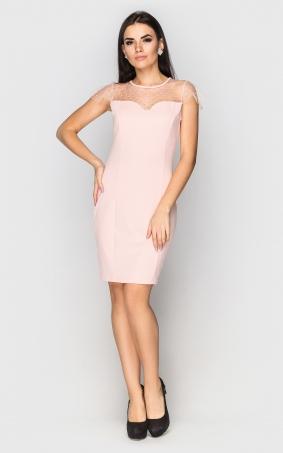 Вечірня сукня міні (рожева)