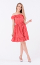 Sundress open shoulders (red)