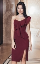 Evening dress (burgundy)
