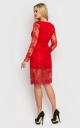 Чарівна сукня з гіпюру (червона)