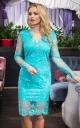 Чарівна сукня з гіпюру (бірюзова)