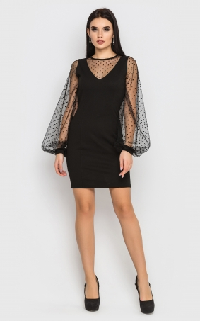 Luxurious bodycon dress (black)