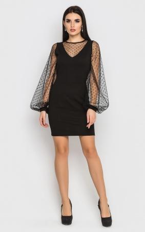 Розкішна облягаюча сукня (чорна)
