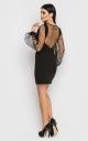 Luxurious bodycon dress (black)