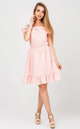 Sundress open shoulders (pink)