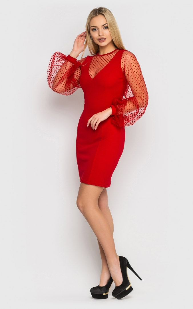 Luxurious bodycon dress (red)