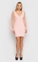 Розкішна облягаюча сукня (рожева)