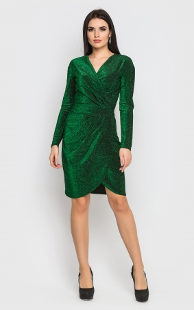 Luxurious short mini dress (green)