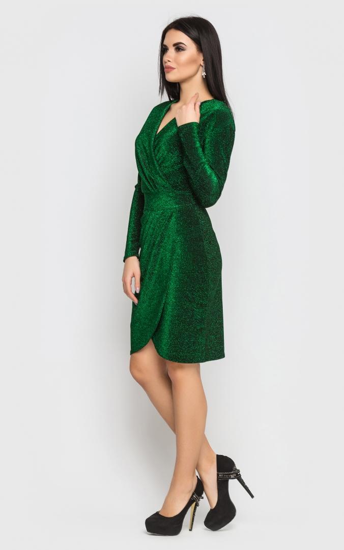 Розкішна коротка сукня-міні (зелена)