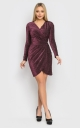 Luxurious short mini dress (burgundy)