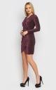 Luxurious short mini dress (burgundy)