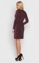 Роскошное короткое платье-мини (бордовое)
