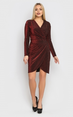 Luxurious short mini dress (red)