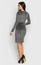 Роскошное короткое платье-мини (черное)