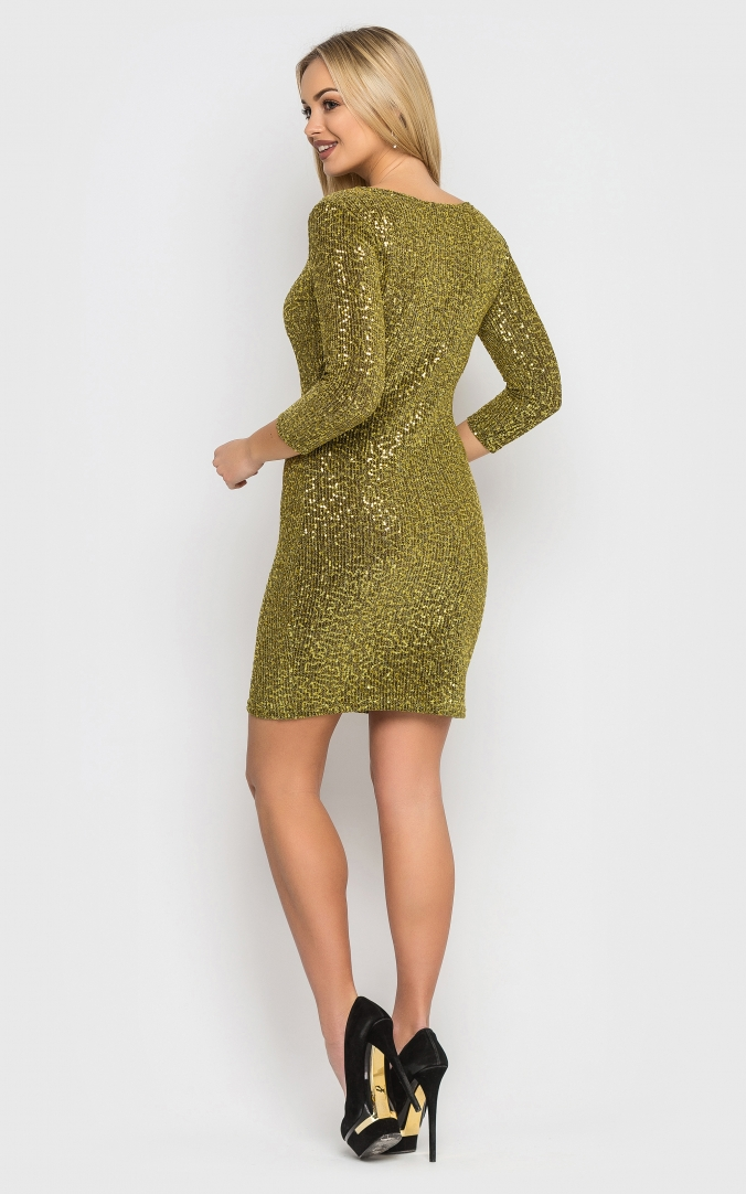 Elegant mini dress (gold)