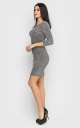 Elegant mini dress (gray)