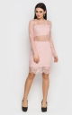 Luxurious fitting dress (pink)