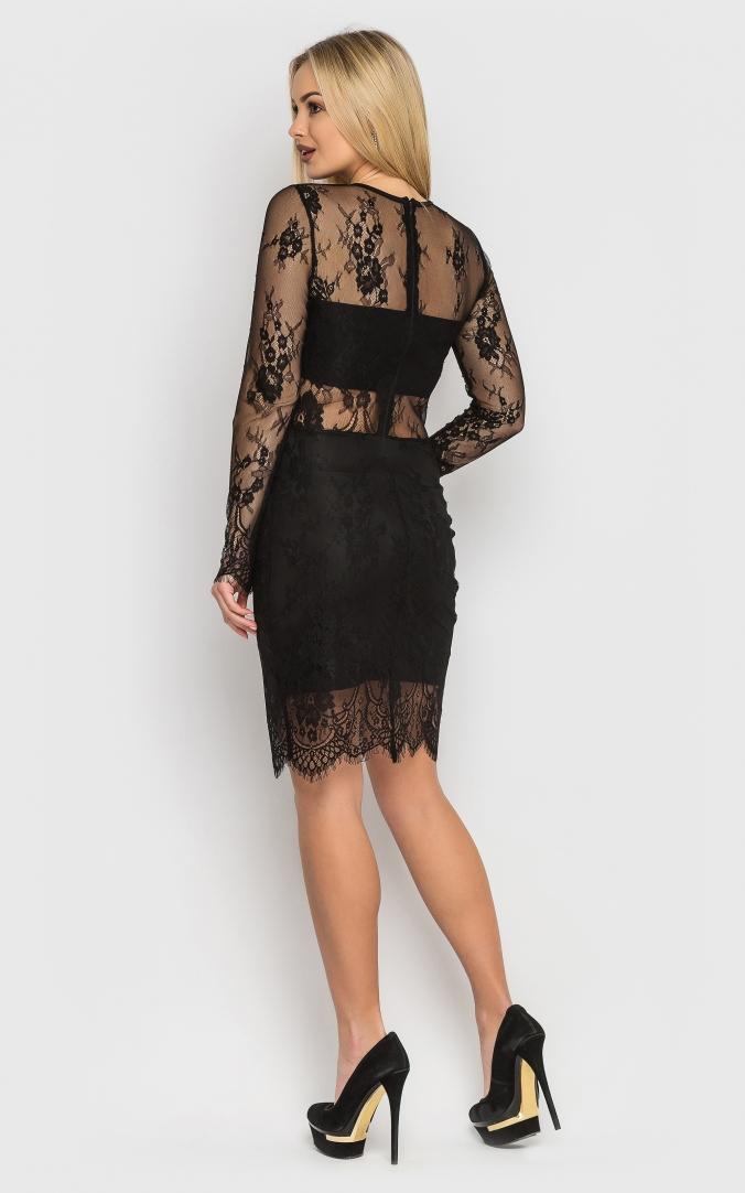 Роскошное облегающее платье (черное)