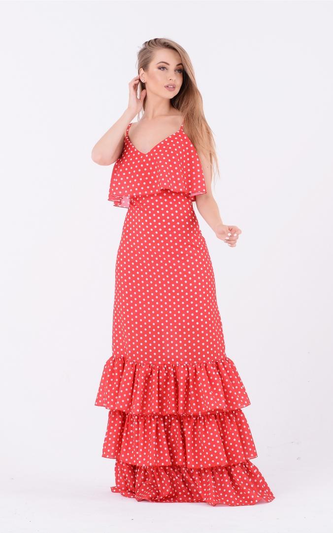 Элегантное платье горох