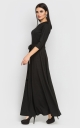 Evening dress to the floor (black)