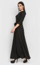 Вечернее платье в пол (черное)