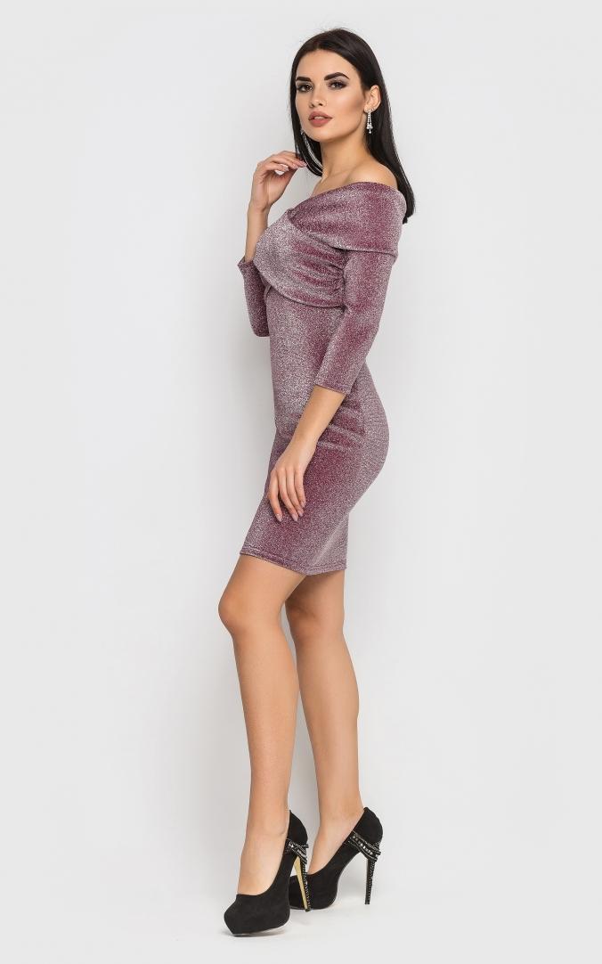 Роскошное короткое платье-мини (розовое)