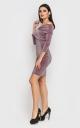 Розкішна коротка сукня-міні (рожева)
