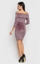 Luxurious short mini dress (pink)