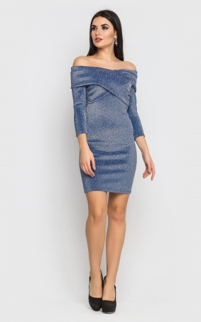 Luxurious short mini dress (blue)