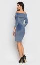 Розкішна коротка сукня-міні (блакитна)