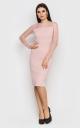 Вечірня сукня-міді (рожева)