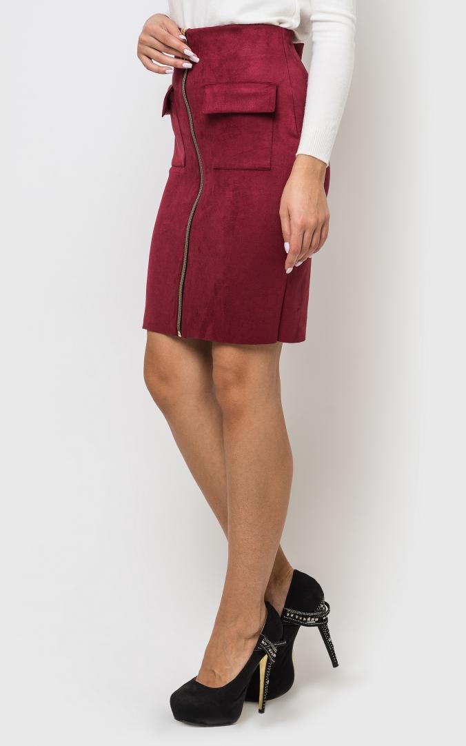 Оригинальная замшевая юбка