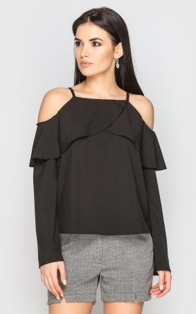 Блуза з відкритими плечима (черна)