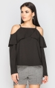 Blouse with open shoulders (black)