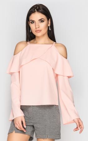 Блуза з відкритими плечима (рожева)