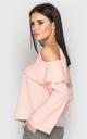Блуза с открытыми плечами (розовая)