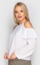 Blouse with open shoulders (white)