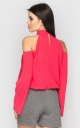 Blouse with open shoulders (coral)