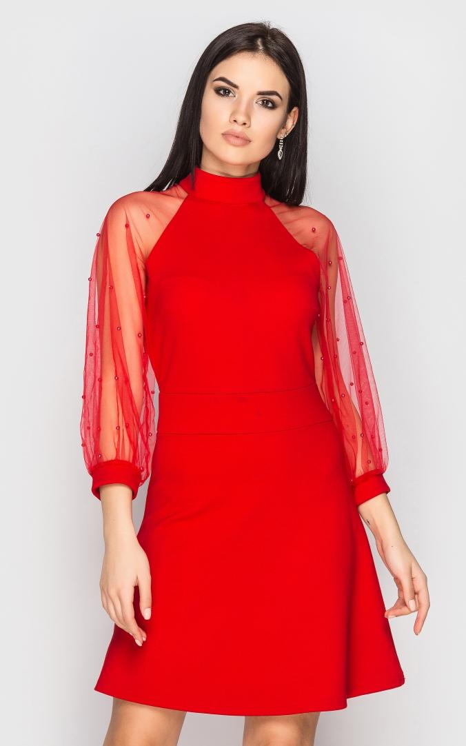 Вечернее платье (красное)