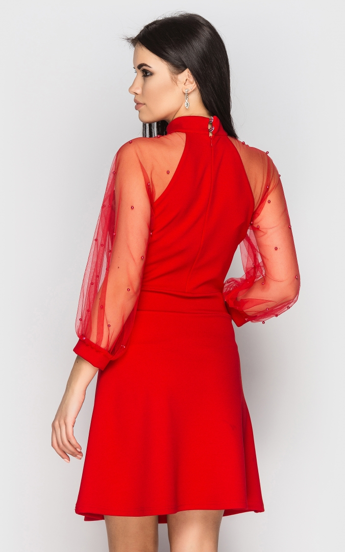 Evening dress (red)